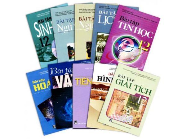 Bộ sách giáo khoa và sách bài tập lớp 12 ban A, B, C, D