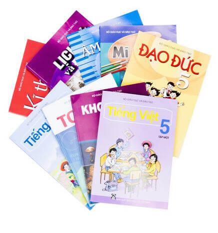 Bộ sách giáo khoa và sách bài tập lớp 5 năm học 2017 - 2018