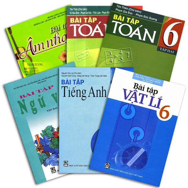 Bộ sách giáo khoa và sách bài tập lớp 6 năm học 2017 - 2018