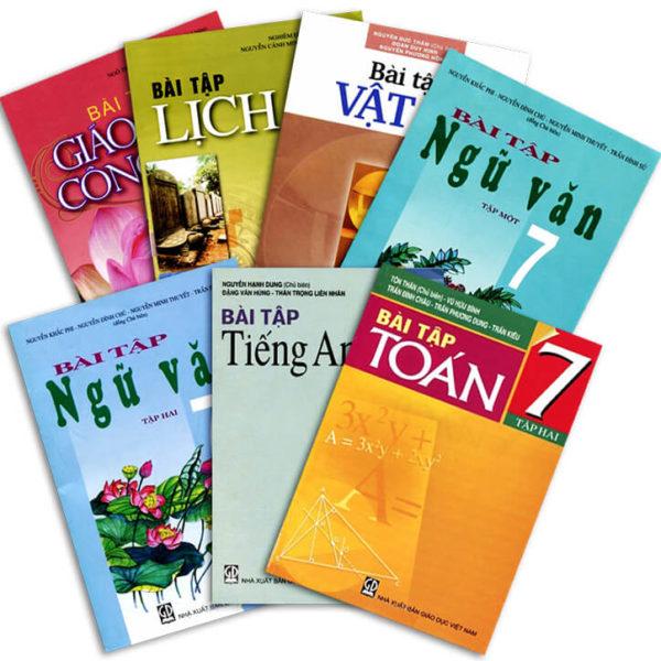 Bộ sách giáo khoa và sách bài tập lớp 7 năm học 2017 - 2018
