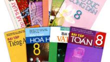 Bộ sách giáo khoa và sách bài tập lớp 8 năm học 2017 – 2018 mới nhất